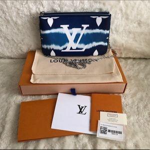 NIB Louis Vuitton LV ESCALE POCHETTE DOUBLE ZIP